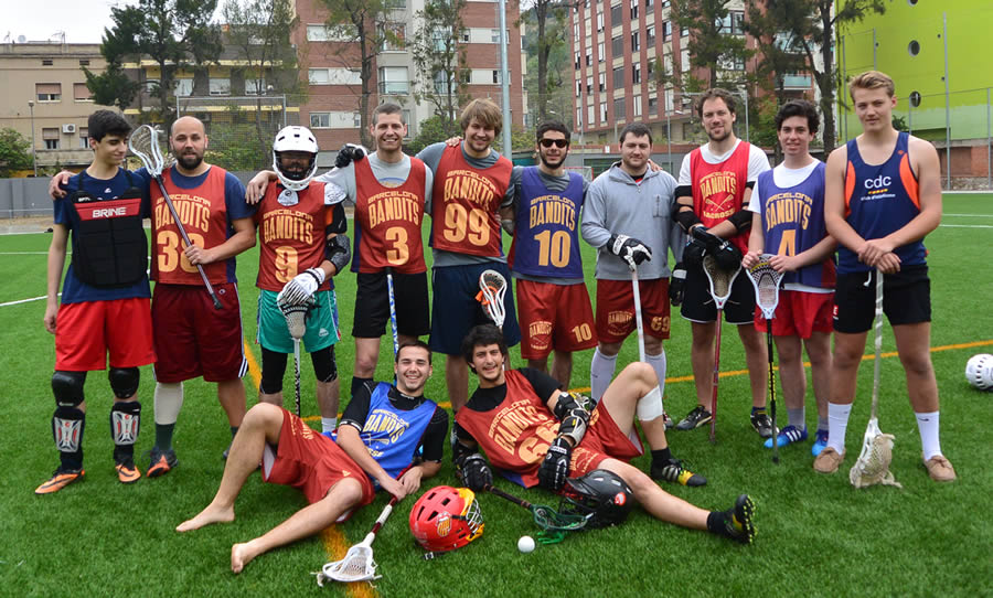 Barcelona Lacrosse's team Blue & team Red