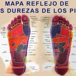 Mapa Reflejo de las durezas en los pies