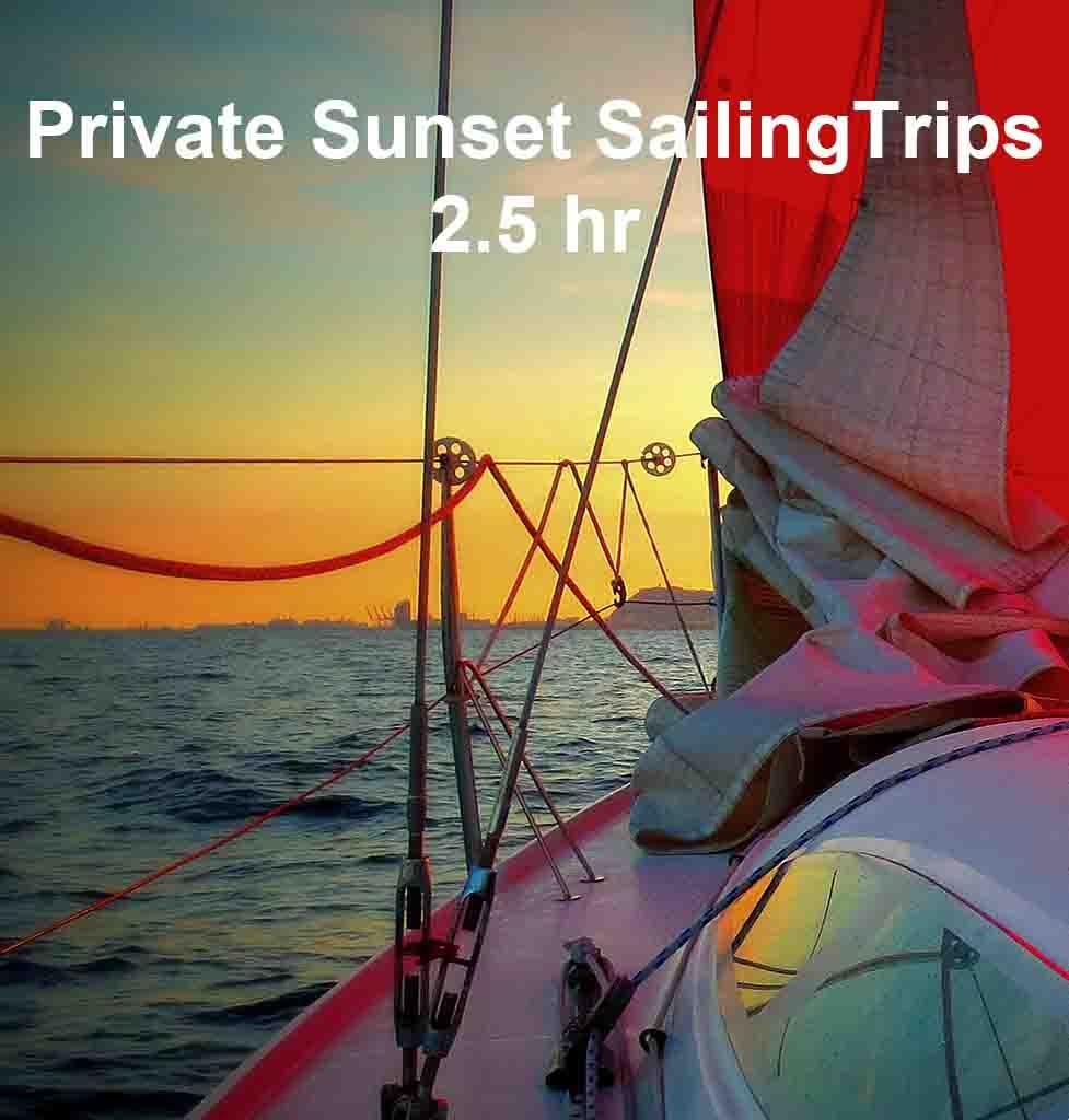 Boat tours Barcelona sunset sail barcelona sailing