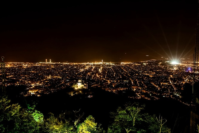 sitios romanticos en barcelona tibidabo