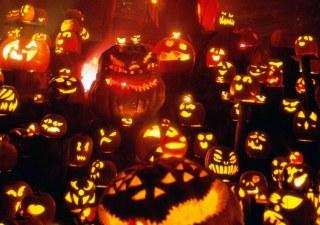 aldea terrorífica en Halloween