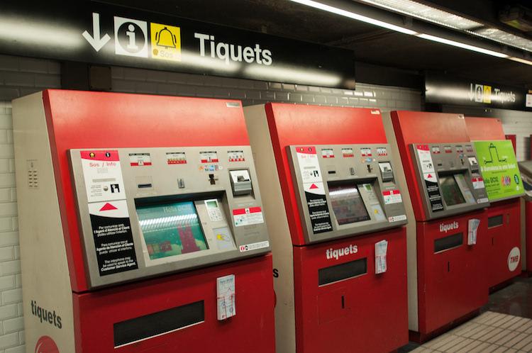 Metro ticket automaat barcelona
