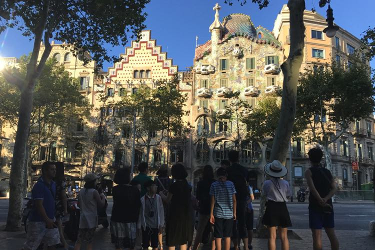 Casa Batlló en Casa Amatller aan de Passeig de Gràcia