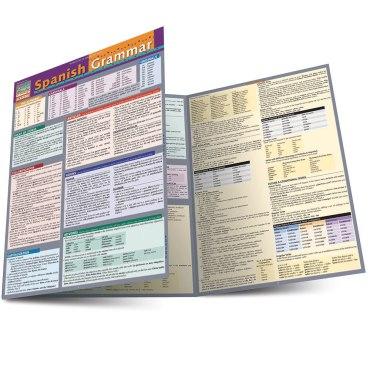 Quick Study QuickStudy Spanish Grammar Laminated Study Guide BarCharts Publishing Spanish Grammar Main Image