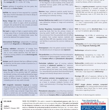 Quick Study QuickStudy X-Ray Tech Laminated Study Guide BarCharts Publishing Medical Career Guide Back Image