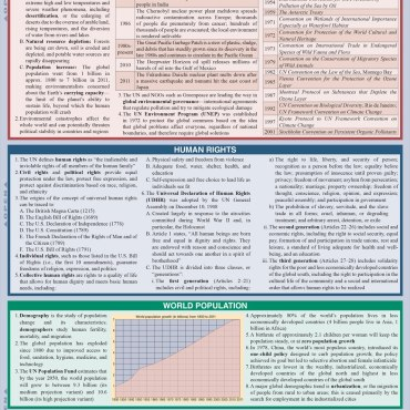 Quick Study QuickStudy Political Science: International Relations Laminated Study Guide BarCharts Back Image