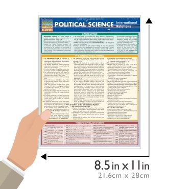 Quick Study QuickStudy Political Science: International Relations Laminated Study Guide BarCharts Guide Size