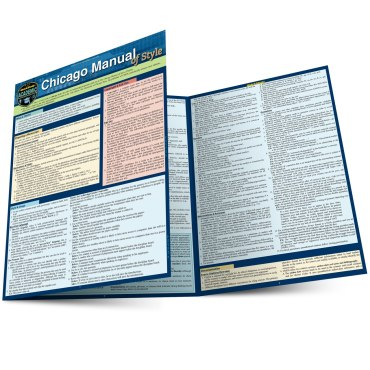 Quick Study QuickStudy Chicago Manual of Style Laminated Study Guide BarCharts Publishing Inc Guides Main Image
