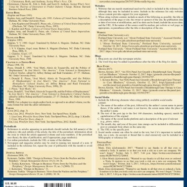 Quick Study QuickStudy Chicago Manual of Style Laminated Study Guide BarCharts Publishing Inc Guides Back Page Image