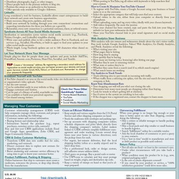 Quick Study QuickStudy Home-Based Internet Business Laminated Reference Guide BarCharts Publishing Career Education Guide Back Image