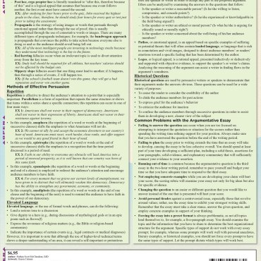 Quick Study QuickStudy AP English Language Laminated Study Guide BarCharts Publishing Inc Reference Guide Back Image