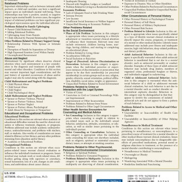 Quick Study QuickStudy Psychology DSM-5 Overview Laminated Study Guide BarCharts Publishing Reference Back Image