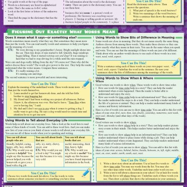 Quick Study QuickStudy English: 3rd Grade Laminated Study Guide BarCharts Publishing Grade School Academics Reference Back Image