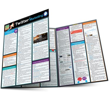 Quick Study QuickStudy Twitter Marketing Laminated Reference Guide BarCharts Publishing Social Media Marketing Outline Main Image