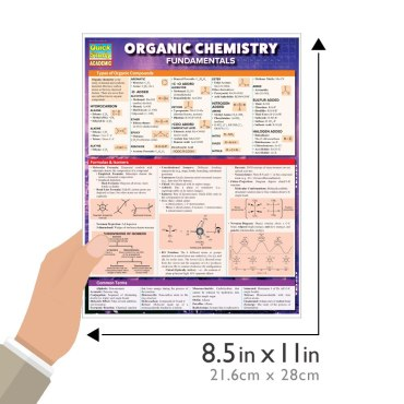 Quick Study QuickStudy Organic Chemistry Fundamentals Laminated Study Guide BarCharts Publishing Guide Size