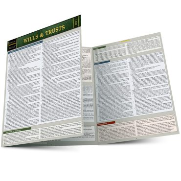 Quick Study QuickStudy Wills & Trusts Laminated Reference Guide BarCharts Publishing Legal Reference Law Outline Main Image