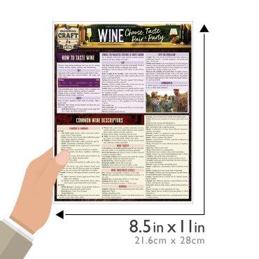 Quick Study QuickStudy Wine: Choose, Taste, Pair & Party Laminated Reference Guide BarCharts Publishing Food &Beverage Lifestyle Outline Guide Size