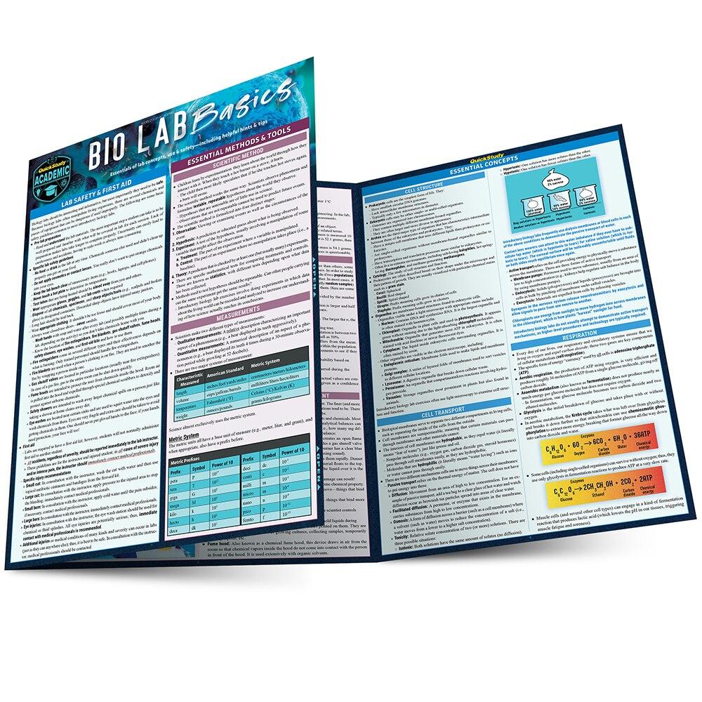 Quick Study QuickStudy Bio Lab Basics Laminated Study Guide BarCharts Publishing  Life Science Reference Main Image