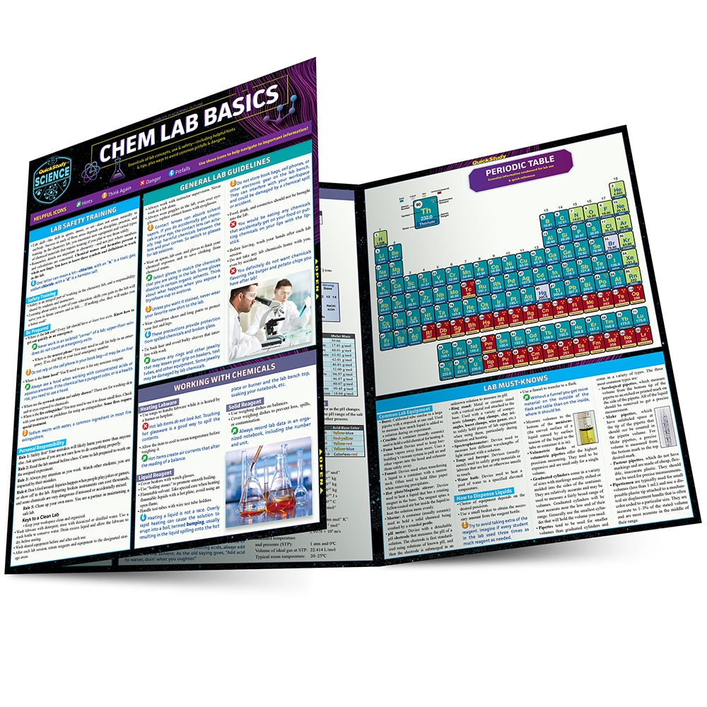 Quick Study QuickStudy Chem Lab Basics Laminated Study Guide BarCharts Publishing Science Reference Main Image