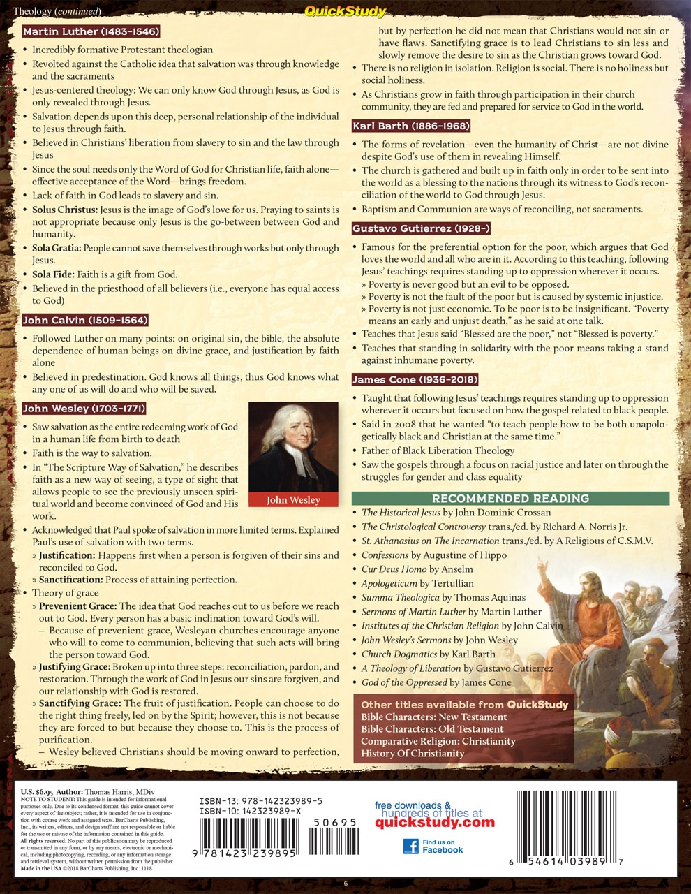 Quick Study QuickStudy Jesus: Historical & Biblical Laminated Study Guide BarCharts Publishing Religion Reference Back Image