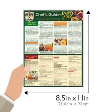Quick Study QuickStudy Chef's Guide to Sauces & Dips Laminated Reference Guide BarCharts Publishing Culinary Reference Outline Guide Size