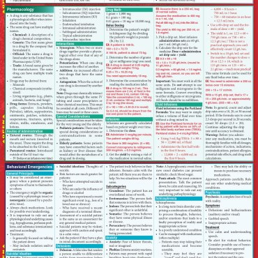 Quick Study QuickStudy Paramedic Laminated Reference Guide BarCharts Publishing Medical Technician Reference Back Image