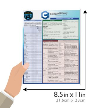 Quick Study QuickStudy C++ Standard Library Laminated Reference Guide BarCharts Publishing Computer Education Reference Guide Size