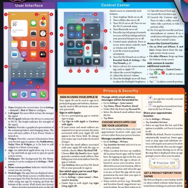 Quick Study QuickStudy iPhone & iPad iOS 14 Laminated Reference Guide BarCharts Publishing Mobile Operating System Reference Cover Image