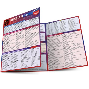 Quick Study QuickStudy Russian Verbs Laminated Study Guide BarCharts Publishing Foreign Language Reference Main Image