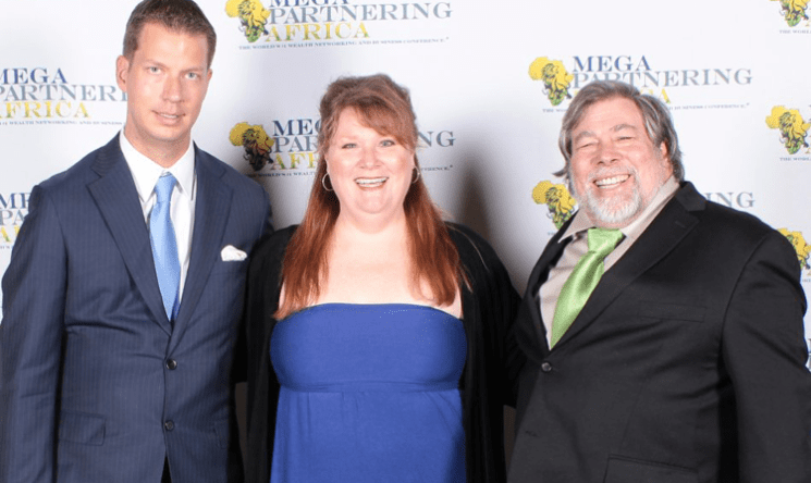 Felicia Barlow Clar with Jt Foxx and Steve Wozniak