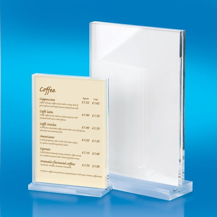 Chunky 10mm Acrylic Menu Holder Menu Holders Acrylic