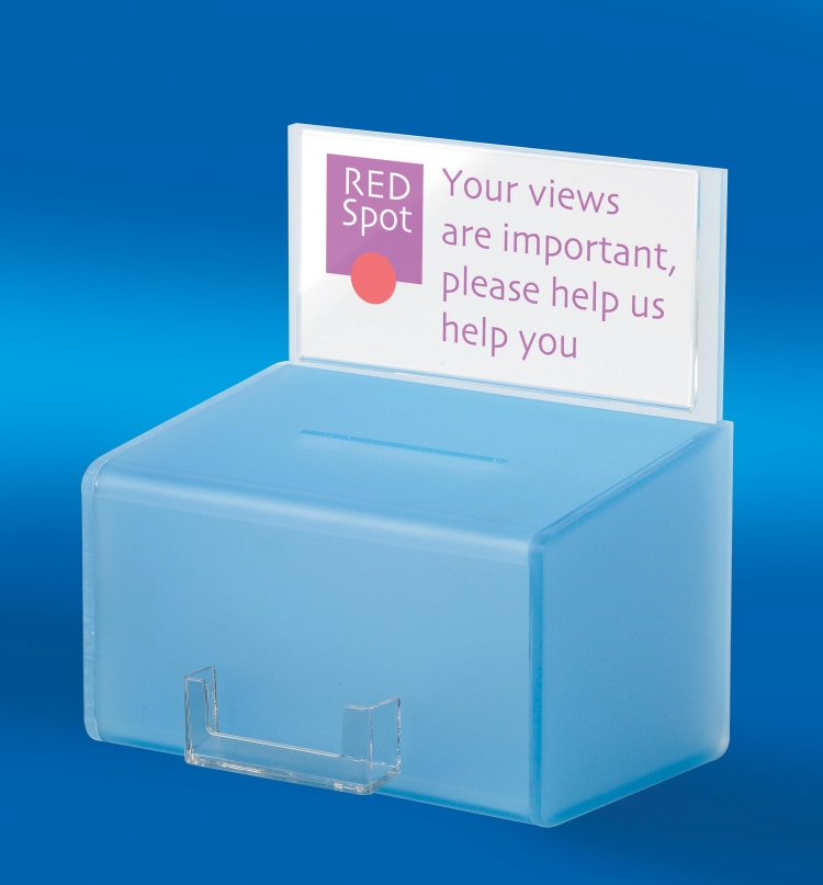 Frosted Acrylic Comment Box Comments Boxes Amp BoardsBarconwood