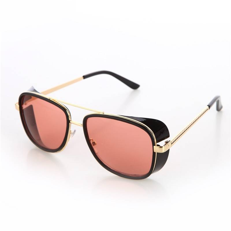 BARCUR Fashion Male Steampunk Sunglasses Men Retro Vintage Designer BC8001 Sunglasses for Men Sunglasses for Women