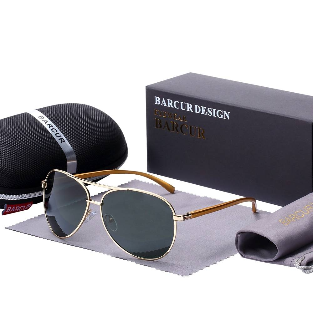 BARCUR Accessories Sunglasses Male Polarized Sunglasses for Men BC8150 Sunglasses for Men Round Series Sunglasses