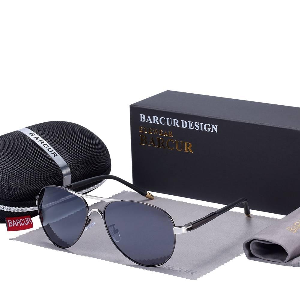 BARCUR Men's Sunglasses Driving UV400 Protection BC8728 Sunglasses for Men Round Series Sunglasses