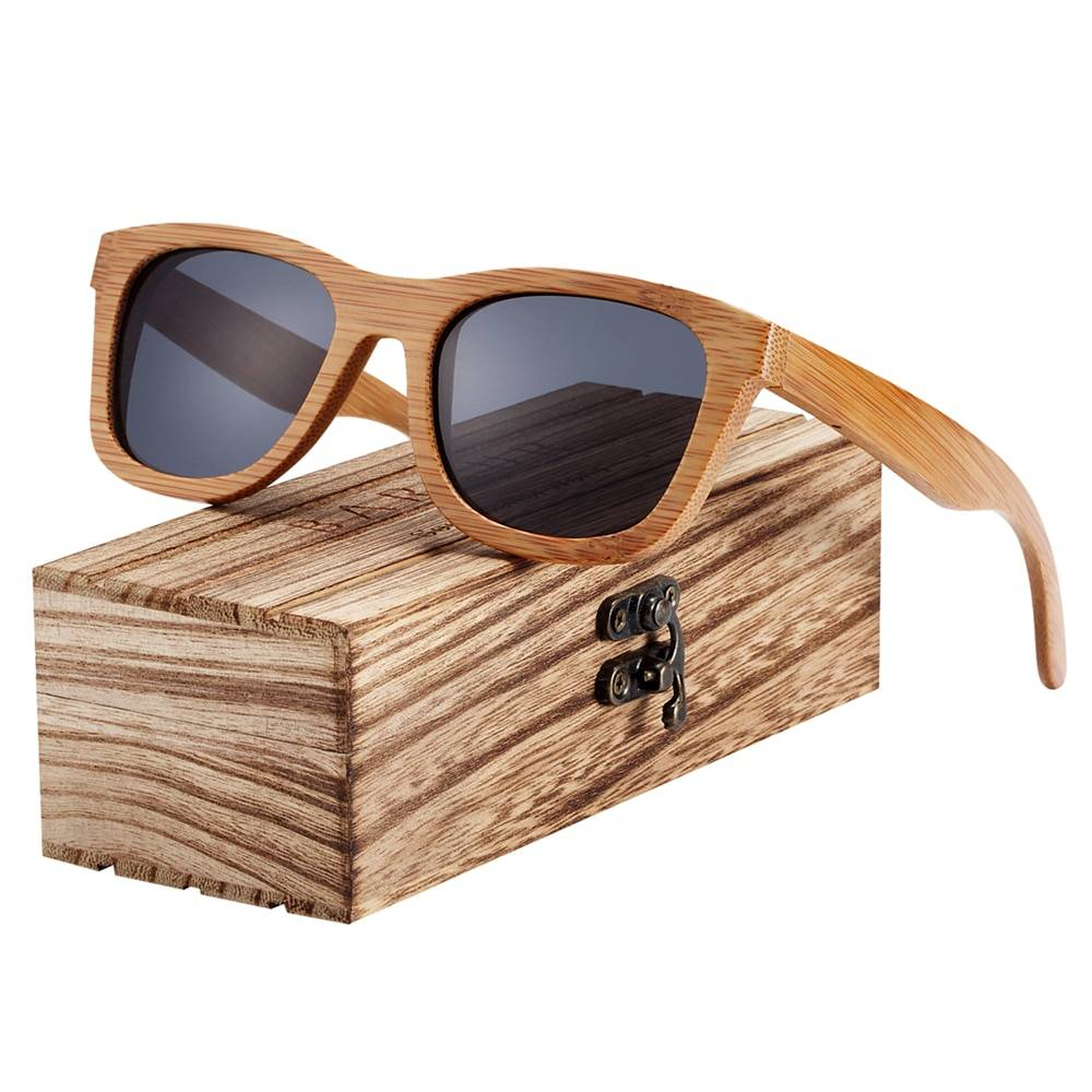 BARCUR Bamboo Sunglasses Retro Vintage BC8210 Sunglasses for Men Sunglasses for Women Wooden Sunglasses