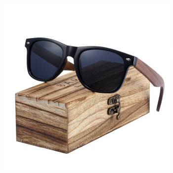 BARCUR Black Walnut Sunglasses Wood Polarized Sunglasses BC8700 Sunglasses for Men Sunglasses for Women Wooden Sunglasses