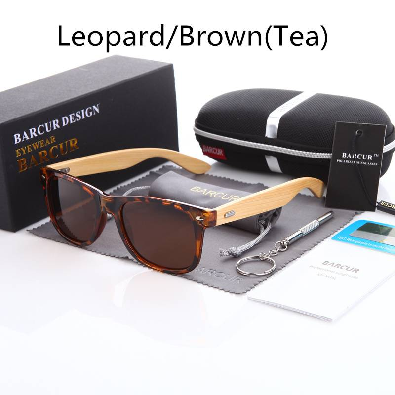 BARCUR Polarized Bamboo Sunglasses Men Women BC4175 Sunglasses for Men Sunglasses for Women Wooden Sunglasses