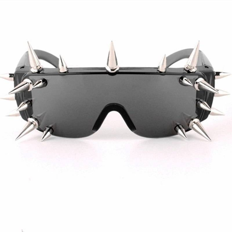 BARCUR Rivet Sunglasses Women Luxury Steampunk Sun glasses Hip Hop Style Party glasses BC7890 Sunglasses for Men Sunglasses for Women