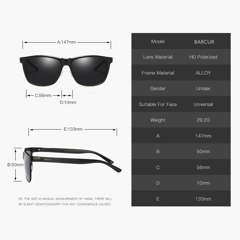 BARCUR Brand Unisex Retro Aluminum+TR90 Material Sunglasses Polarized Lens Vintage Eyewear Accessories Sunglasses For Men/Women BC8021 Sunglasses for Men Aluminium Sunglasses Sunglasses for Women TR90 Material Sunglasses