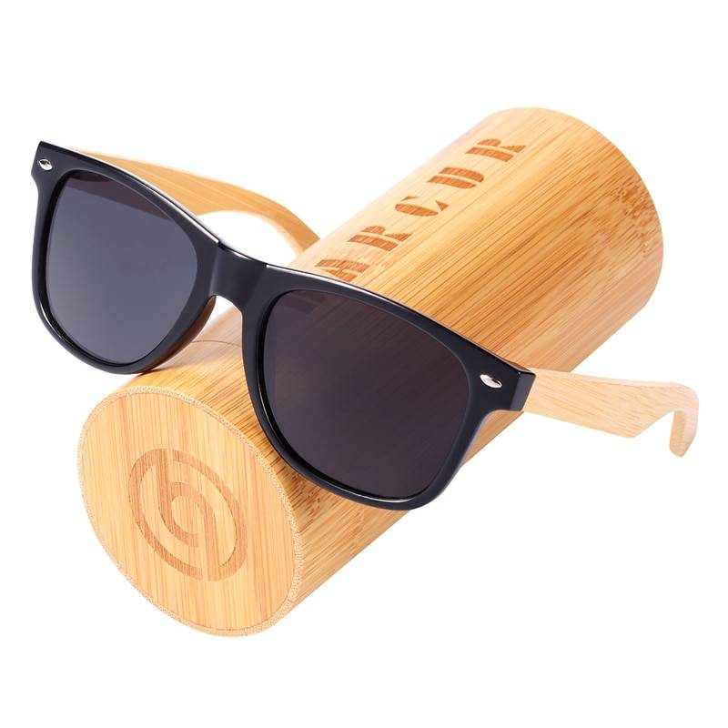 BARCUR 2019 New Polarized Sunglasses Walnut Men With Plastic Frame Wooden Legs glasses Bamboo BC2140 Sunglasses for Men Sunglasses for Women Wooden Sunglasses