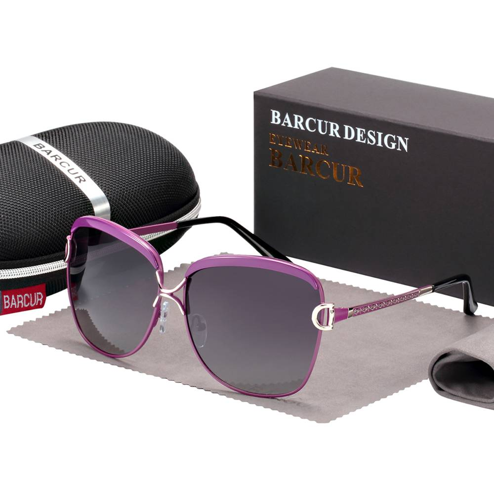BARCUR Gradient Sun glasses Women Polarized Sunlgasses for Women trending products BC8712 Sunglasses for Women