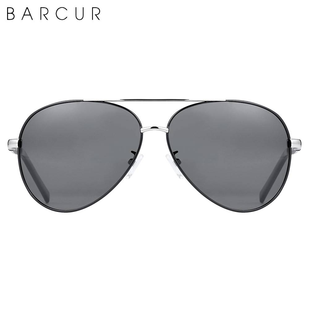 BARCUR BC8688 Pilot Style Vintage Men's Sunglasses Polarized Coating Classic Sunglasses for Men Sunglasses for Women