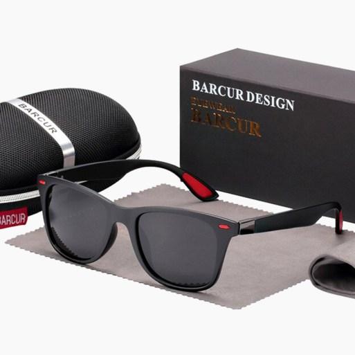 BARCUR - Γυαλιά Ηλίου Active Matte Black / Red Σκελετός & Black Φακός Polarized (2130)