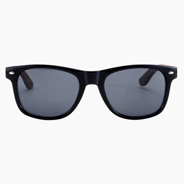 BARCUR - Γυαλιά Ηλίου Walnut Wayfarer Style Μαύρα με Black Polarized Φακό (8700)