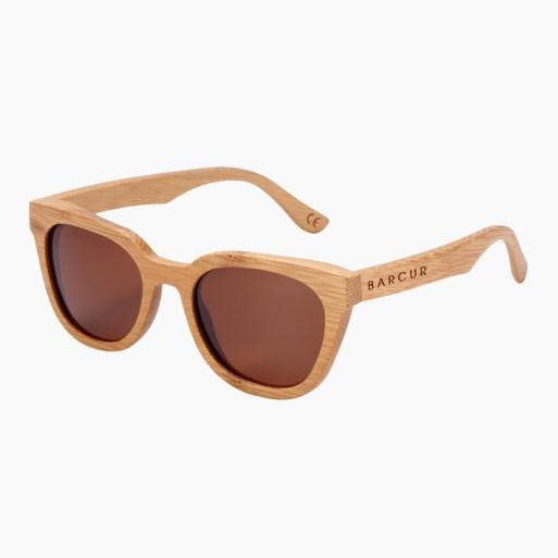 BARCUR - Γυαλιά Ηλίου Bamboo Upturned Style με Tea/Brown Polarized Φακό (8212)