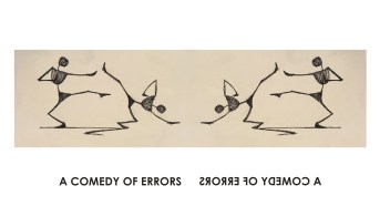 The Bard Brawl's logo for The Comedy of Errors is brought to you by Mezari designer Stephanie E.M. Coleman.