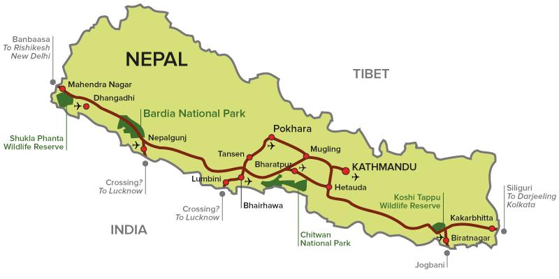 Map of Bardiya National Park