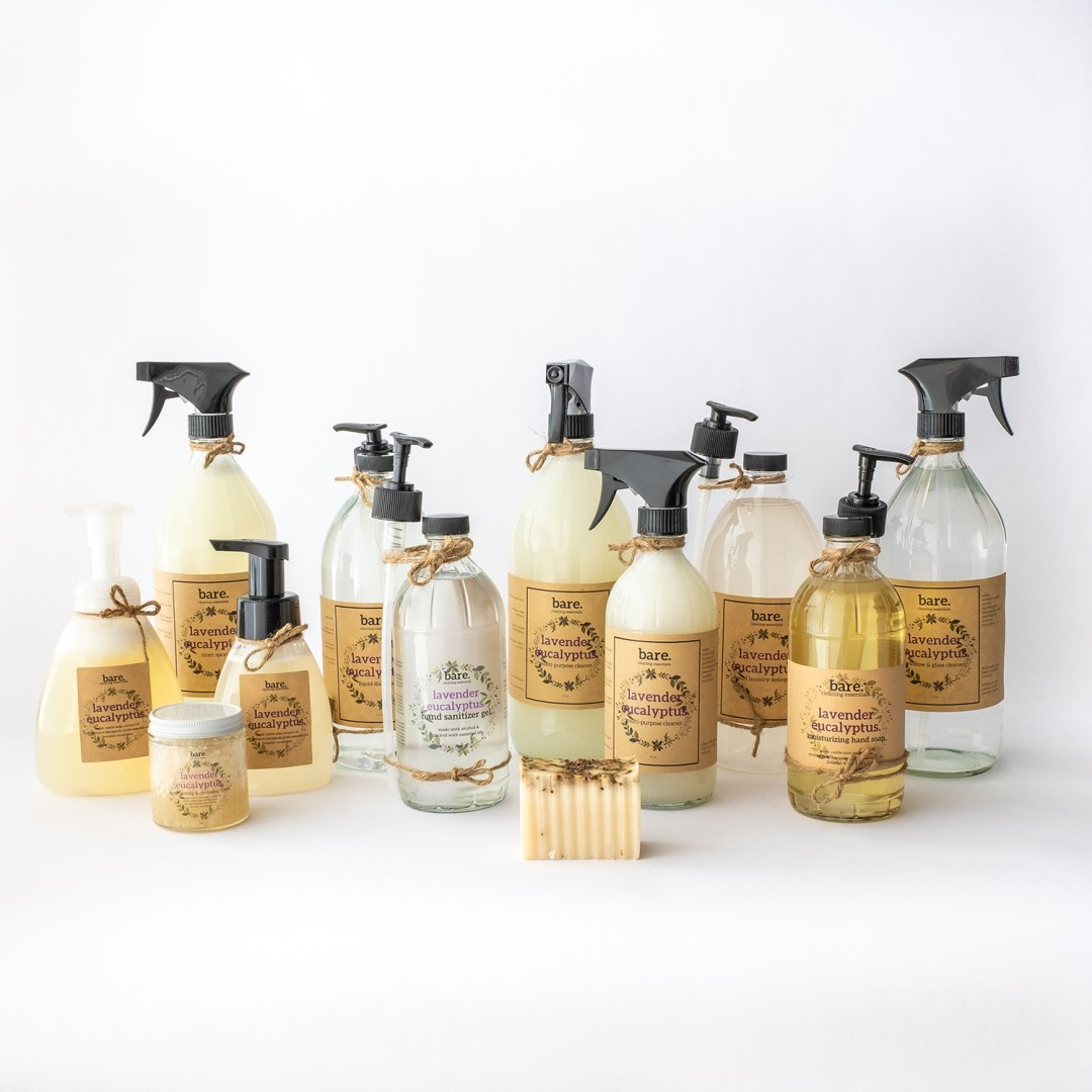 lavender eucalyptus - full product line - clean with bare
