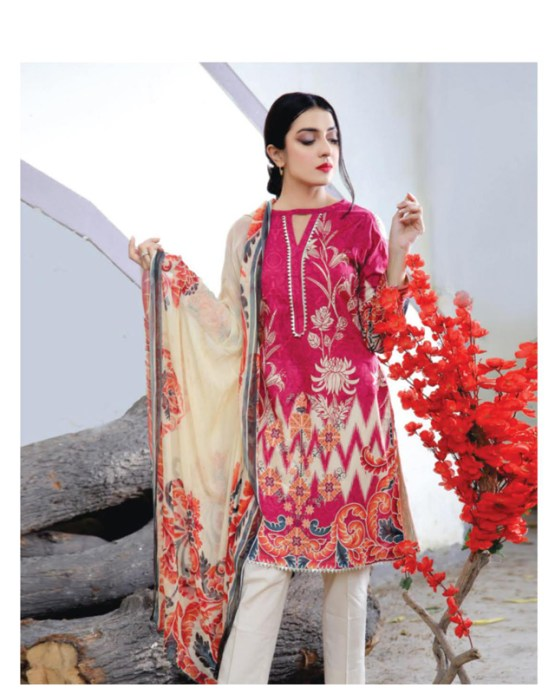 Printed Embroidered Lawn